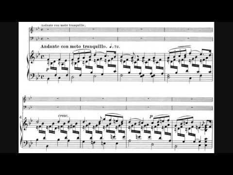 From 10.45 - beautiful second movement melody and harmony line in violin and cello - Felix Mendelssohn - Piano Trio No. 1 in D minor