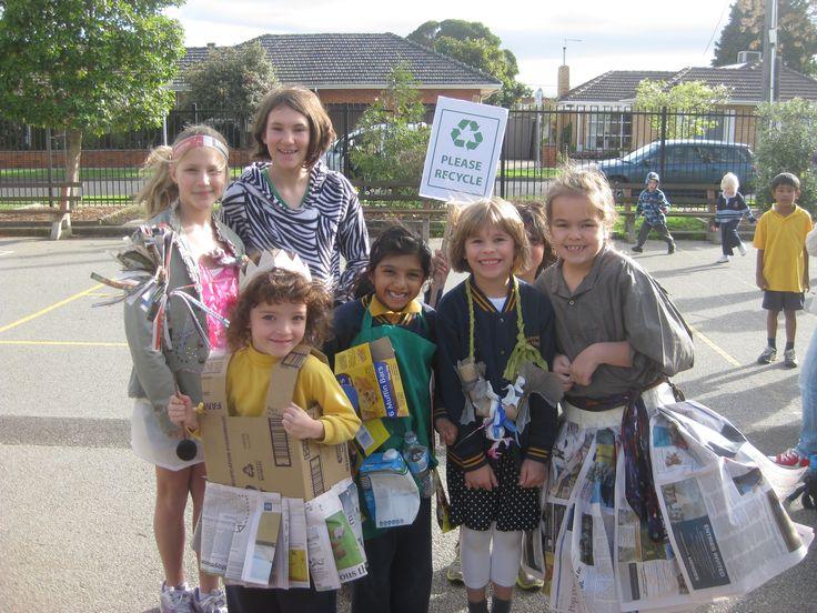 Valkstone Primary School, East Bentleigh, VC. Enviro Week Recycled Dress Up Day. #enviroweek13