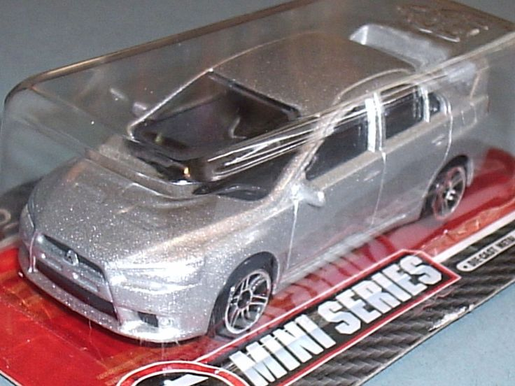 Silver Mitsubishi Lancer Evolution Evo X Sports Car Realtoy 1:64 Scale Model Toy #Realtoy #Mitsubishi
