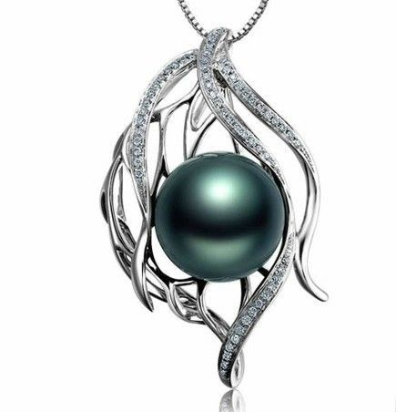 """Tahiti Black Pearl & Diamonds pendant necklace #BuyChiq. You can see all the prices and more details in our website. (www. Buychiq.com) Also if you are subscribe to our newsletter you will participate in our sweepstakes. Good Luck! Follow us in Facebook clicking """"Like"""" www.facebook.com/... or in Twitter www.twitter.com/..."""