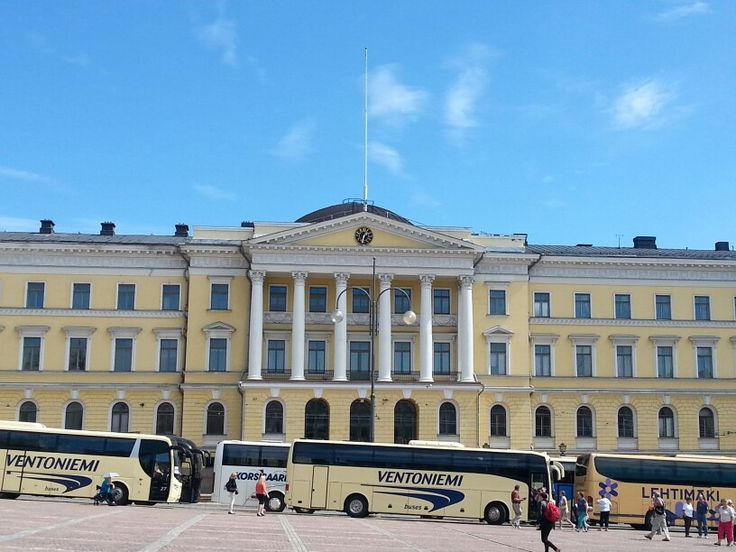 Helsinki University in Senate Square is a 19th century neoclassical building from Tsarist times. It is the main building of the University of Helsinki.