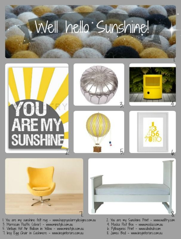 Happy as Larry's Design - new rug collection 'You are my sunshine'.  www.happyaslarrydesigns.com