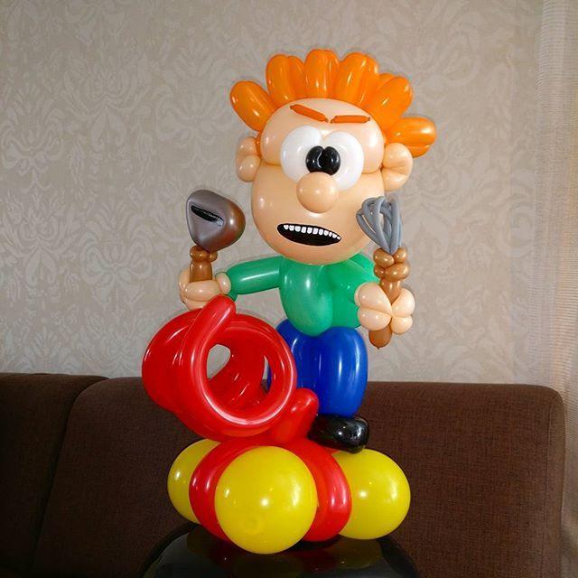 Risto Räppääjä. Ricky Rapper. #balloon #balloonart #ristoräppääjä #ristoräppääjähetkilyö #rickyrapper #ilmapallo #ilmapallotaide #justforfun #justforfunballoon
