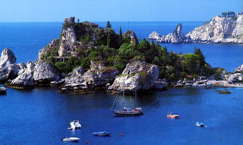 Isola Bella, Messina bay coast  in Taormina, Sicily    ... setting of some of my Italian poems I wrote, from here you can also visit the Blue Grotto in Messina bay  from 2004 and 2005 travels