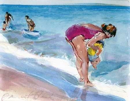 David FeBland - Water Color Drawing such beautiful work Jo