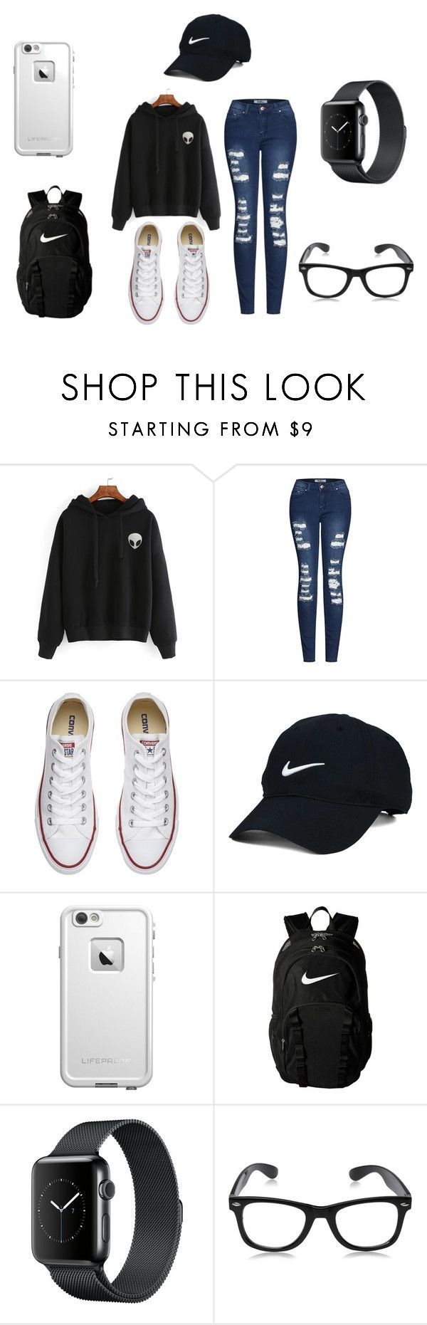 """School"" by roxas-lightwood on Polyvore featuring 2LUV, Converse, Nike Golf, LifeProof and NIKE"