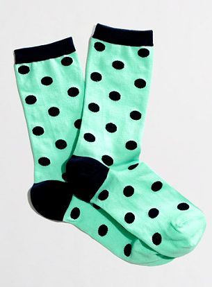 Polka dot socks #jcrew