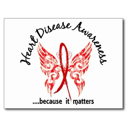 Grunge Tattoo Butterfly 6.1 Heart Disease Postcard