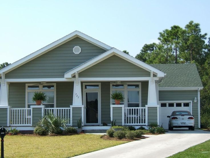Bungalow with porch from palm harbor homes in brooksville for 20 east homes com