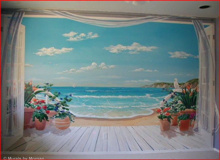 Best 25 ocean mural ideas on pinterest painting murals for Beach mural painting