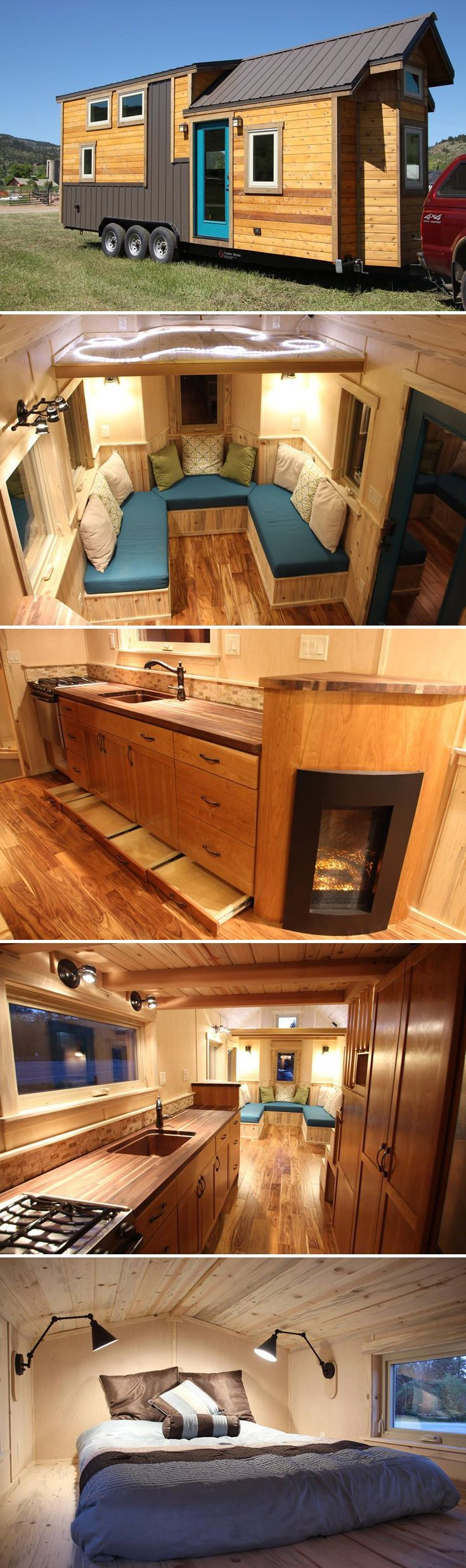 Built by Lyons, Colorado-based SimBLISSity, the Tahosa is a luxurious 26' tiny house on wheels with upgrades throughout.