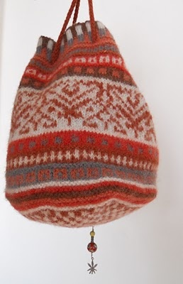 knitted Medieval Pouch