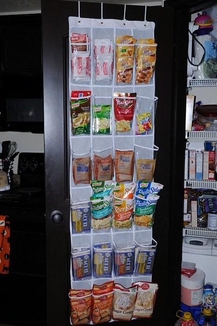 Over The Door Shoe Organizer To Store Drink Packets, Popcorn, Oatmeal  Packets, Etc