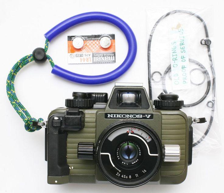 Green Nikon Nikonos V underwater film camera & 35mm lens. Serviced May 2017 #Nikon