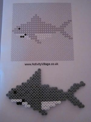 Shark hama beads