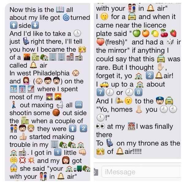 Because they're the only ones who will take the time to text out the lyrics to the theme song from The Fresh Prince of Bel-Air using emojis.