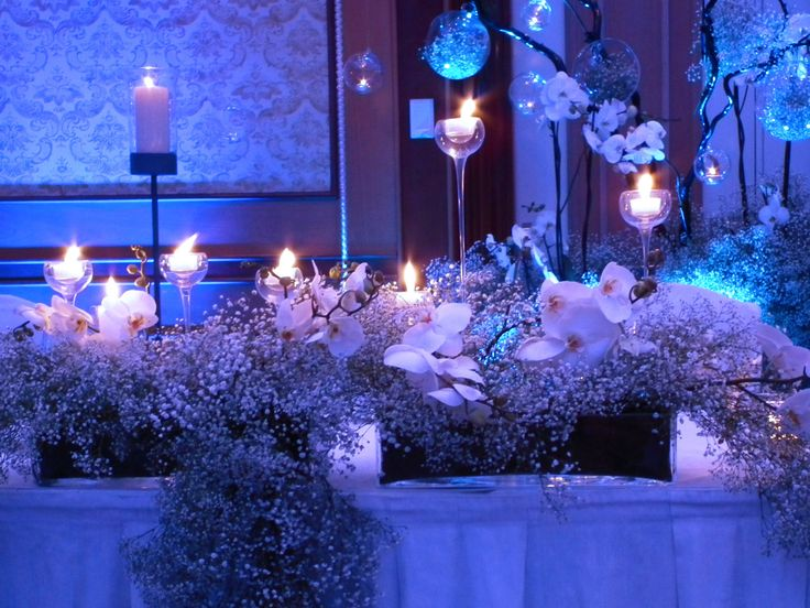 Frosted wedding centerpiece by artsize.pl