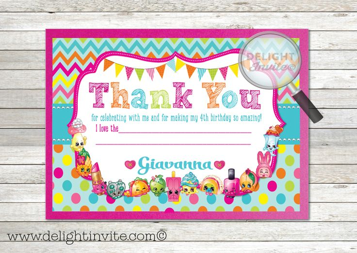 Best Shopkins Party Images On Pinterest Celebration Candies - Blank shopkins birthday invitations
