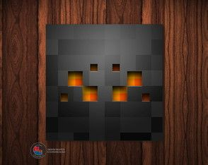 Adesivo Caixa Acrílica Aranha Minecraft