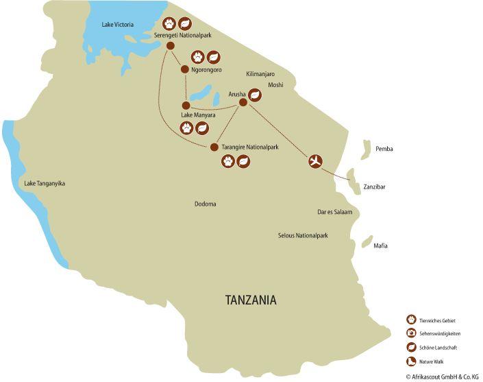 Tansania Privatreise Safari Highlights Und Traumstrande Auf