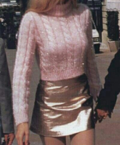 PINK SWEATER AND MINI SKIRT