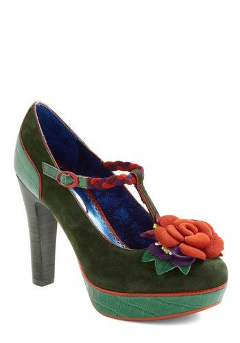 "Ok seriously. Whenever I look at the shoes on ModCloth, I hear the woman from Les Miserables sing ""I'll Take the LOT!!!"" Too many shoes to love and give homes to...    Cultivating Creativity Heel"