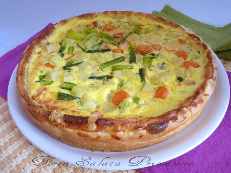 Torta salata primavera ricetta con asparagi