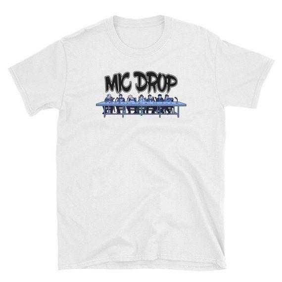 Download BTS Mic Drop Vector Short-Sleeve Unisex T-Shirt, Fan Made ...