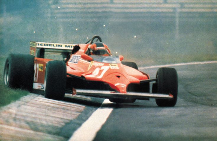 Does it get much better than this? Gilles, A Ferrari, and plenty of sideways action.