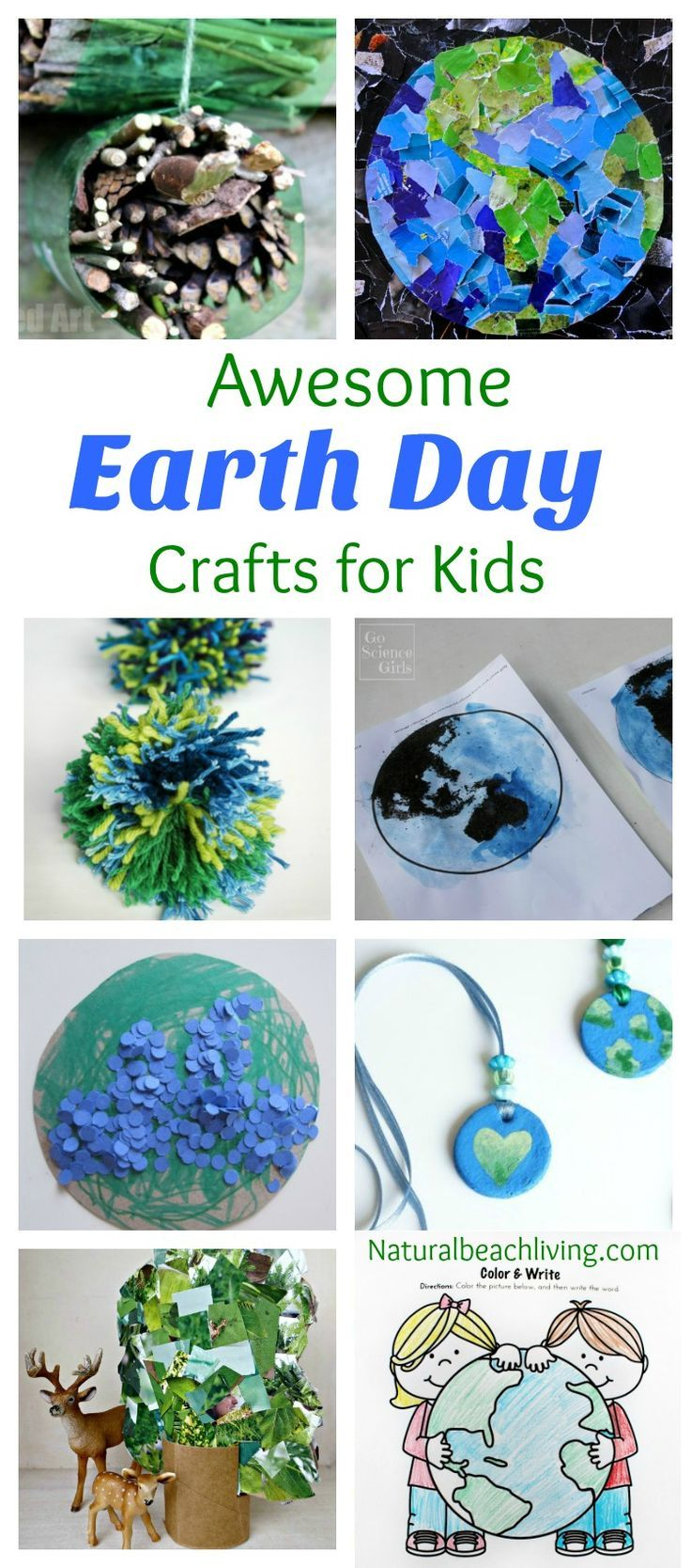 Summer crafts coloring pages - 30 Creative Earth Day Crafts For Kids