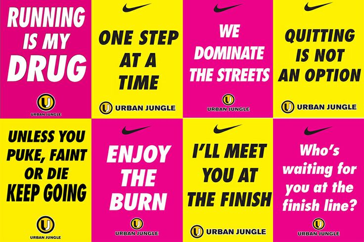 Urban Jungle Malta - motivation posters during my first half marathon