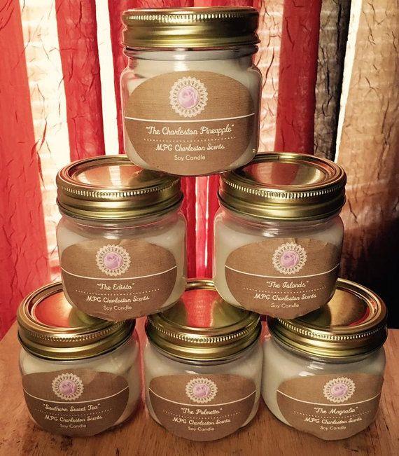 Charleston firma aromas soja velas velas de soja tarro de