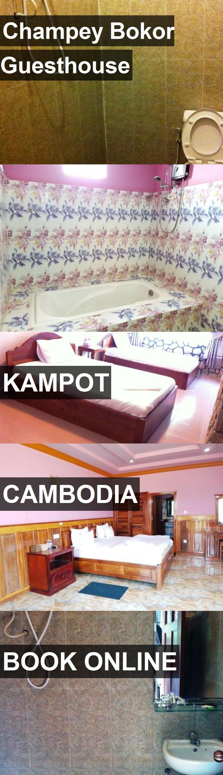 Hotel Champey Bokor Guesthouse in Kampot, Cambodia. For more information, photos, reviews and best prices please follow the link. #Cambodia #Kampot #ChampeyBokorGuesthouse #hotel #travel #vacation