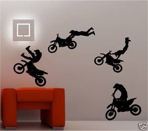 37 best images about michael room on pinterest spider for Dirt bike wall mural