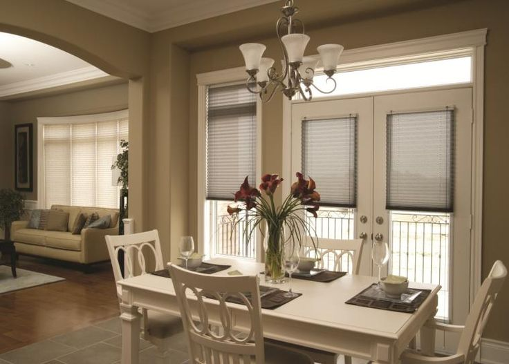 Pleated Shades For French Doors Windows On French Doors