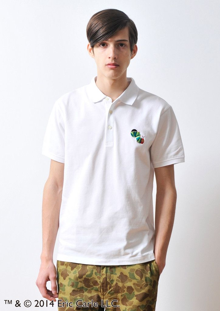 Eric Carle Short Sleeve Polo Shirt(The Very Hungry Caterpillar Embroid – Design Tshirts Store graniph