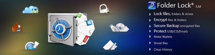 Folder Lock - Lock files, Encrypt and Backup - Free Download http://www.newsoftwares.net/folderlock/ Folder Lock 7 is a complete data security software solution to lock files and folders with encryption, online backup & portable data security. Free download