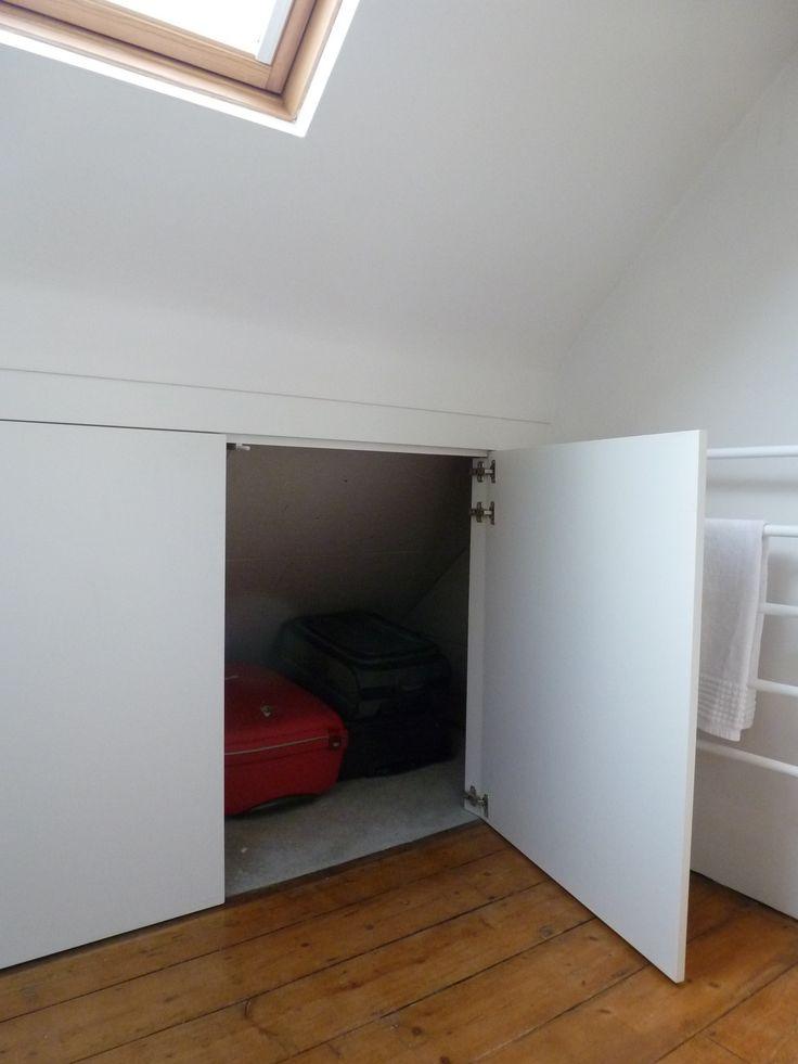 built in cupboard sliding doors loft room - Google Search