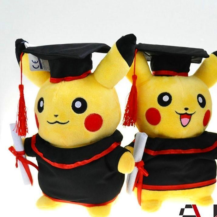 Pikachu graduate toy!  From www.9figures.co.uk  #pokemon #pokemongo #pokemonx #pokemony #pokemonyellow #pokemontoy #pokemontoys #uni #pokemonuniverse #pokemonmaster #pikachu #pikachutoy #pikachuplush #graduate #gift #merchandise #nintendo #9figures #followbackinstantly #followback #follow #f4f #f4f #like #likeback #l4l #like4like