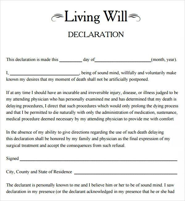 Download Free Will Forms Living Will Template 8 Download Free Documents In Pdf Living Will Template Templates Letter Templates