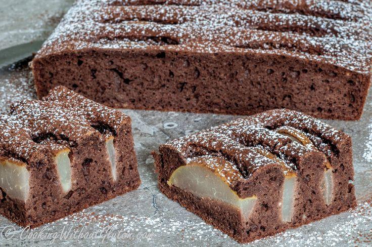 Шоколадная Коврижка с Грушами на Твороге без Глютена — Готовим Без Глютена