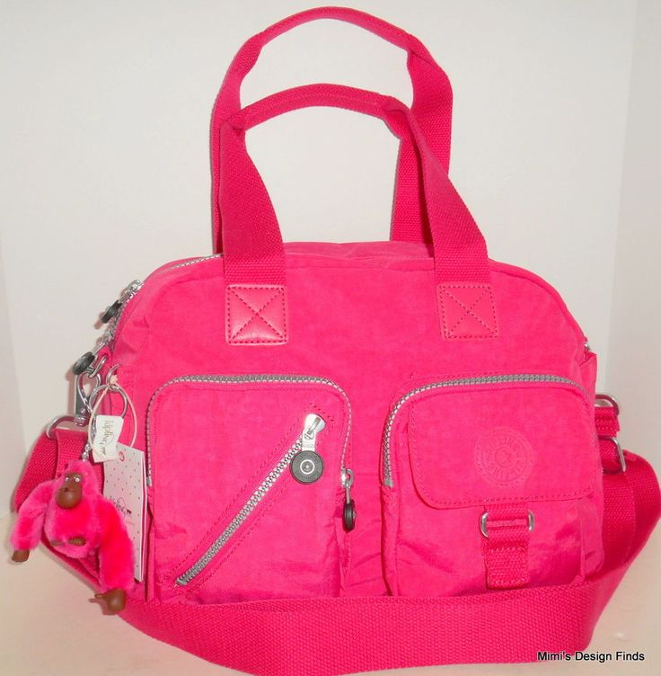 NEW KIPLING Defea Satchel Crossbody Shoulder Carry On Vibrant Pink Nylon HB7286  #Kipling #Satchel