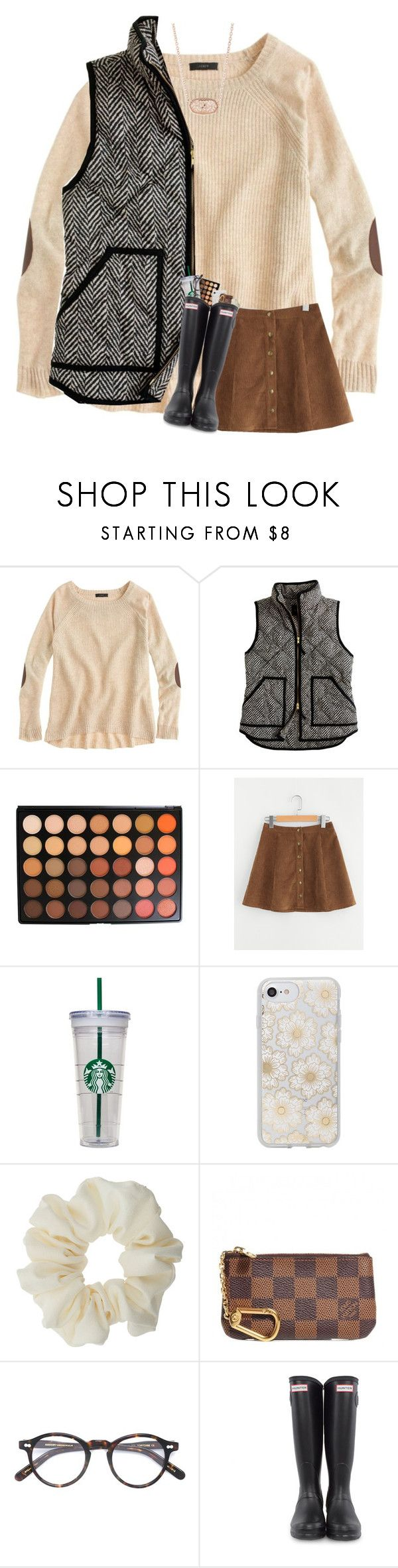 """""""12 days till christmas !!"""" by sarenaaaseeger ❤ liked on Polyvore featuring J.Crew, Morphe, WALL, Sonix, Miss Selfridge, Louis Vuitton, Moscot, Hunter and Kendra Scott"""