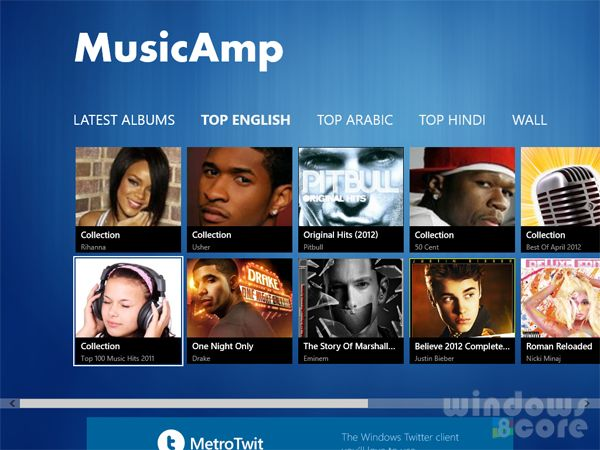 MusicAmp app for Windows 8 is the best online music player in Store