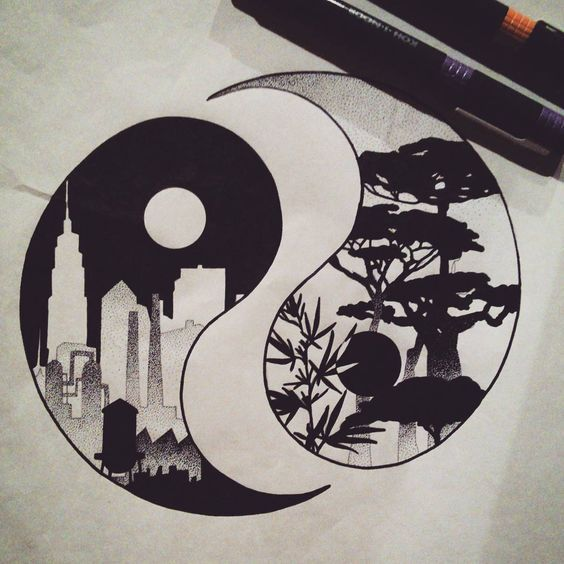 ying yang tattoo ideas tattoo yin yang the tattoos yang nature nature ...