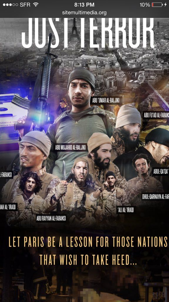 Breaking: ISIS Releases Last Video of Paris Attackers Before Mass Slaughter  Jim Hoft Jan 24th, 2016