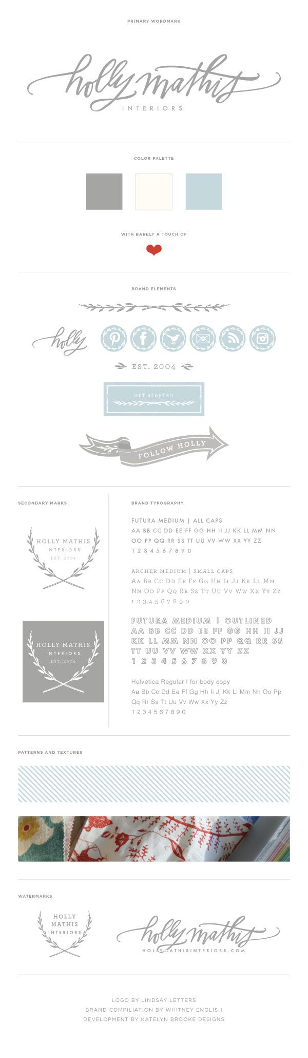 The Holly Mathis Interiors Brand Board
