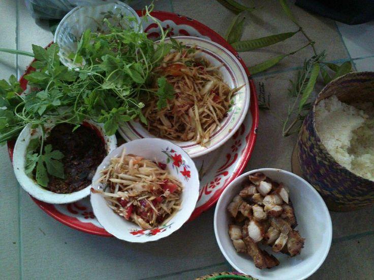 Family yummy Isan Food