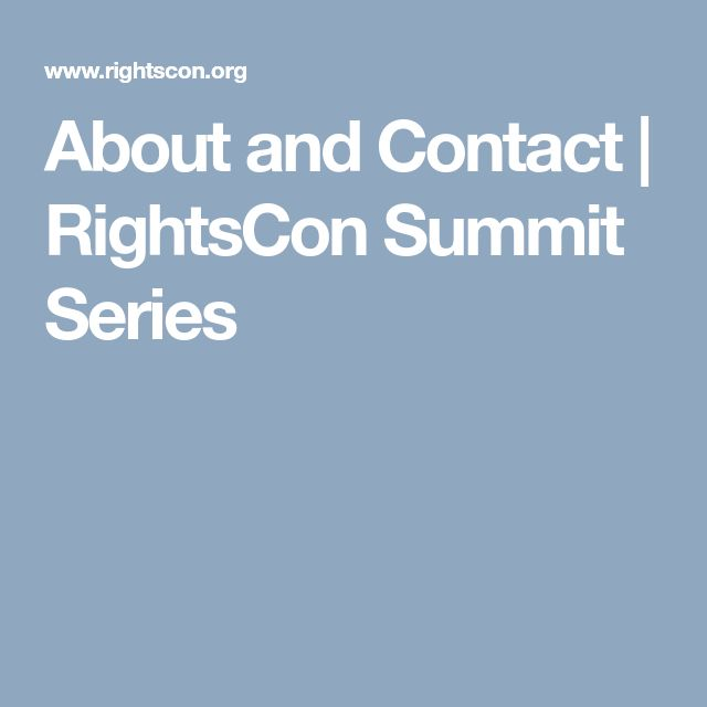 About and Contact | RightsCon Summit Series