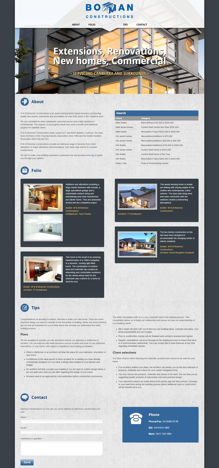 Bowman Constructions | from Elfshot Web Design Folio